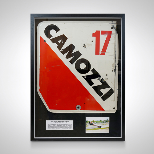 Photo of Derek Warwick 1988 Canadian Grand Prix Rear Wing Endplate - Arrows Megatron