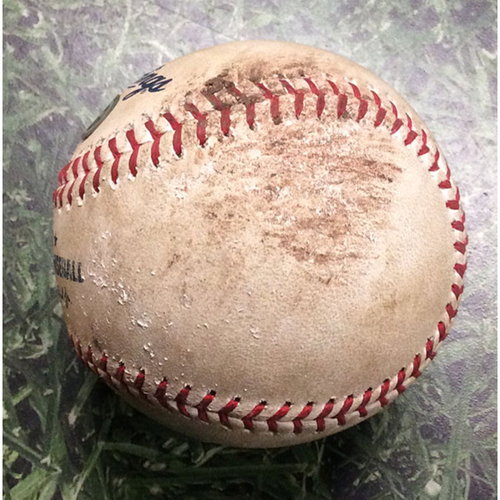 Photo of Game-Used Baseball WSH@MIL 05/07/19 - Stephen Strasburg - Christian Yelich: Strikeout
