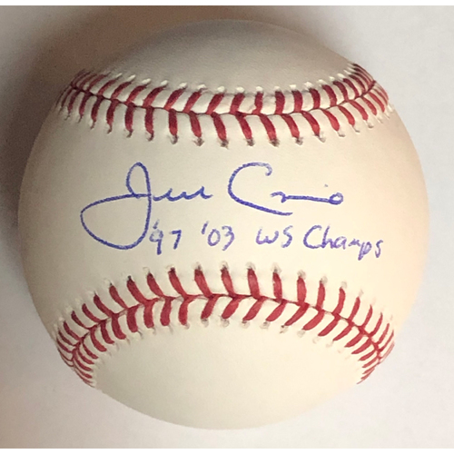 """Photo of Jeff Conine """"97/03 WS Champs"""" Autographed Baseball"""