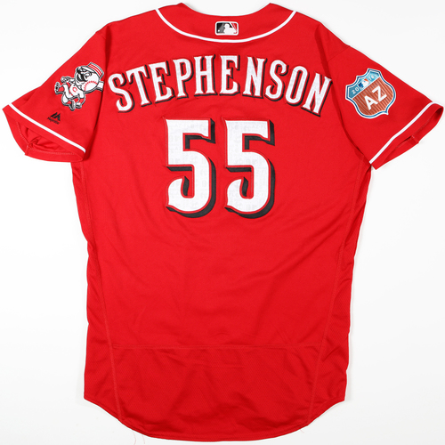 Photo of 2016 Spring Training - Spring Training Game Used Jersey - Robert Stephenson (Reds)- Size- 46