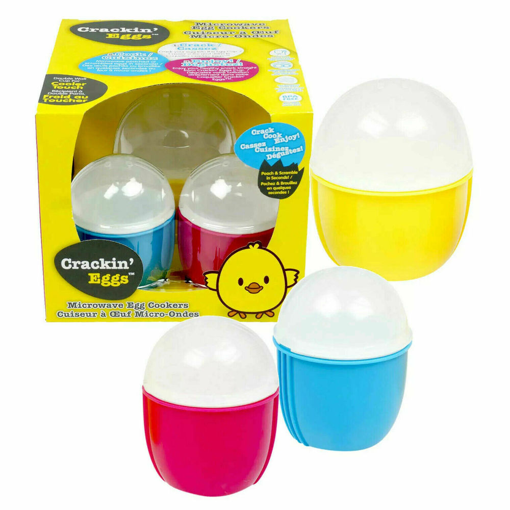 Photo of Crackin Eggs Microwave Egg Cooker - Set Of 3