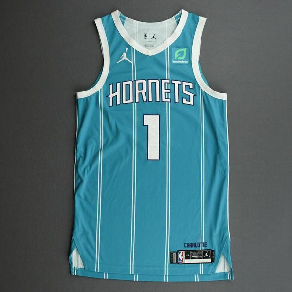 Image of Malik Monk - Charlotte Hornets - Game-Worn Icon Edition Jersey - Dressed, Did Not Play (DNP)
