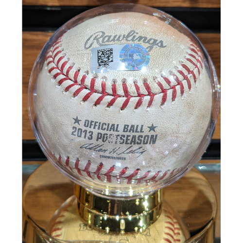Photo of 2013 ALCS Game 1 Detroit Tigers vs. Boston Red Sox October 12, 2013 Game Used Baseball - Jon Lester to Torii Hunter