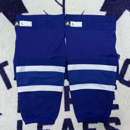 Blue Home Adidas Game Used Socks (Size L)