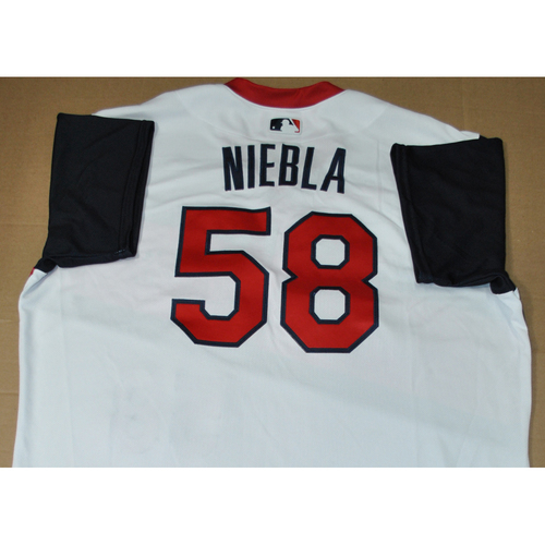 Photo of Game-used Jersey - 2021 Little League Classic - Los Angeles Angels vs. Cleveland Indians - 8/22/2021 - Great Lakes, Player Name: Ruben Niebla #58
