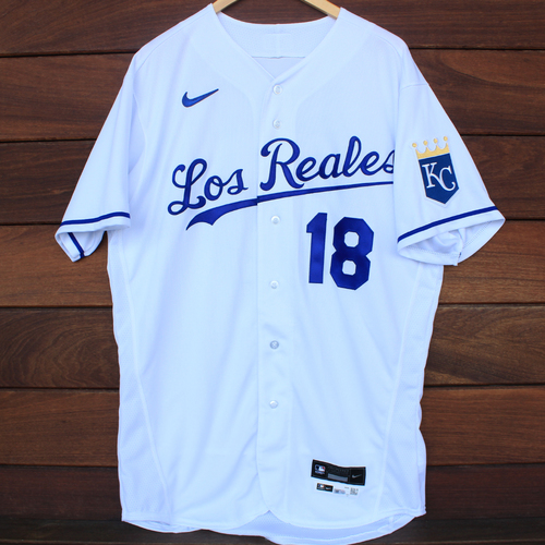 Photo of Game-Used Los Reales Jersey: Rusty Kuntz #18 (SEA@KC 9/17/21) - Size 46