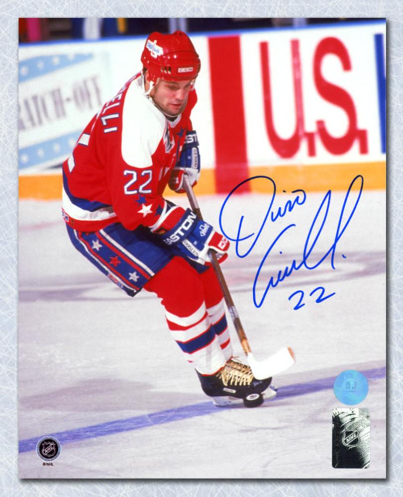 Dino Ciccarelli Washington Capitals Autographed Hockey Sniper 8x10 Photo