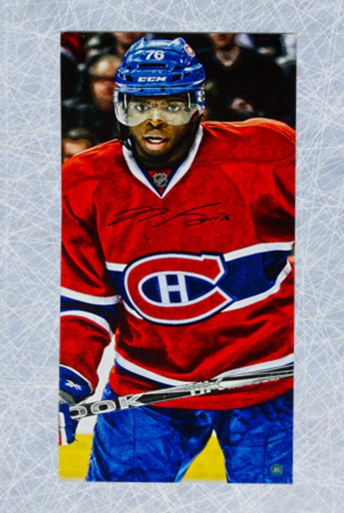 P.K. Subban Montreal Canadiens Autographed 14x28 Art Canvas