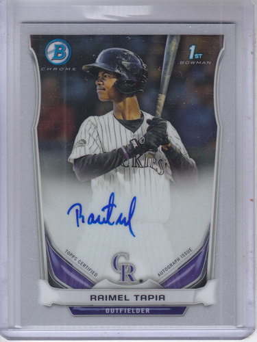 Photo of 2014 Bowman Chrome Prospect Autographs Raimel Tapia