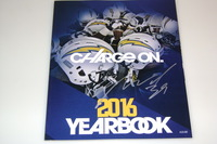 CHARGERS - DANNY WOODHEAD SIGNED 2016 CHARGERS YEARBOOK