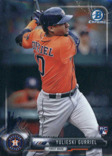 Photo of 2017 Bowman Chrome #57A Yulieski Gurriel Rookie Card