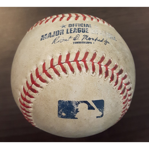 Photo of Authenticated Game Used Baseball - Single by #28 Steve Pearce vs. Blake Snell. Bottom of the 4th inning. (April 28, 2017)