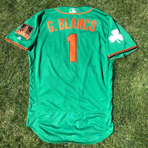 Photo of San Francisco Giants - 2018 St. Patrick's Day - Game-Used Jersey - Gregor Blanco