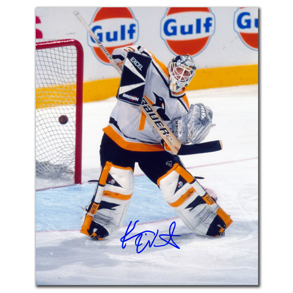 Ken Wregget Pittsburgh Penguins BIG SAVE Autographed 8x10