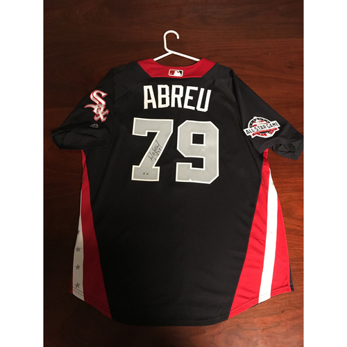 Photo of Jose Abreu 2018 Major League Baseball Workout Day Autographed Jersey