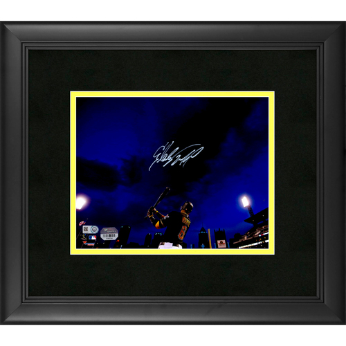 """Photo of Starling Marte Pittsburgh Pirates Framed Autographed 8"""" x 10"""" Photo"""
