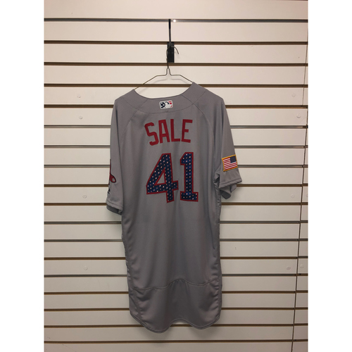 Photo of Chris Sale Team-Issued 2018 Stars and Stripes Jersey