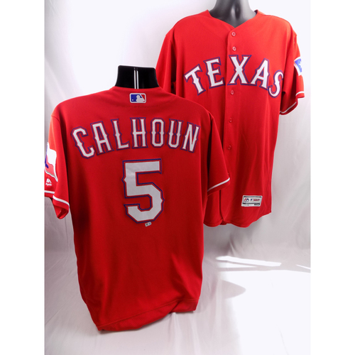 Photo of 7/20/18 - Game-Used Red Jersey - Willie Calhoun