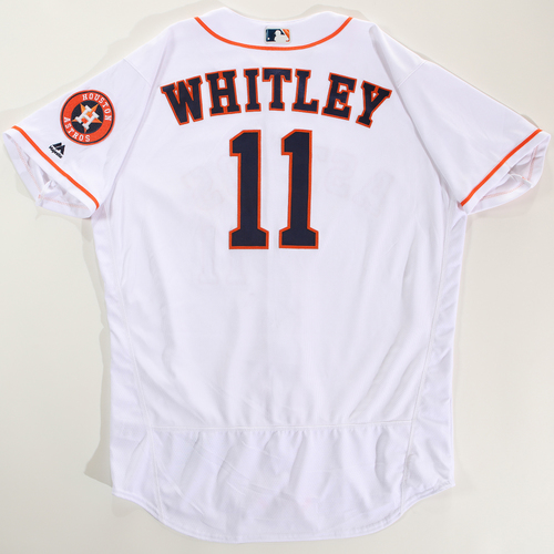 Photo of 2018 Arizona Fall League Game-Used Jersey - Forrest Whitley -Size 50