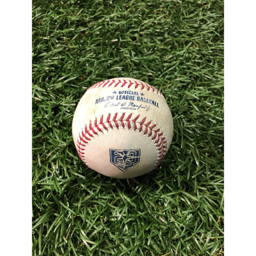 Photo of 20th Anniversary Game Used Baseball: Ronald Acuna Jr. foul ball off Blake Snell - May 8, 2018 v ATL