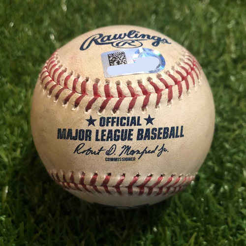 Photo of Game-Used Baseball: Whit Merrifield 35th Career Home Run (CLE @ KC - 4/14/19)