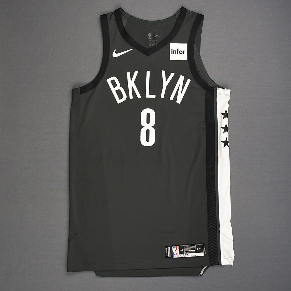 reputable site dac51 e6bd3 Spencer Dinwiddie - Brooklyn Nets - Game-Worn Statement ...