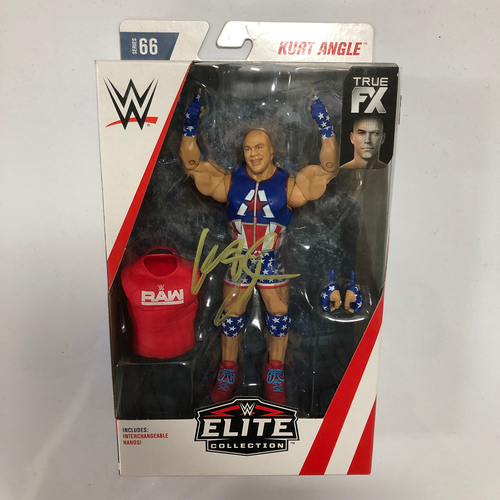 Photo of Kurt Angle SIGNED Elite Series Series 66 Action Figure