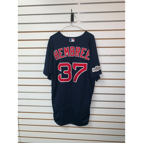 Photo of Heath Hembree Game Used September 22, 2017 Road Alternate Jersey