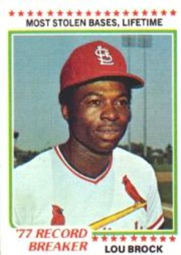 Photo of 1978 Topps #1 Lou Brock RB