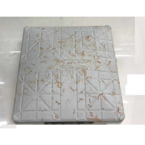 Photo of Game Used Base: Jake Bauers Hits for the Cycle (2nd Base), 6/14/19