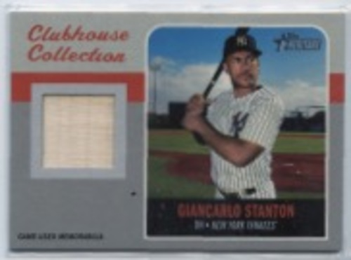 Photo of 2019 Topps Heritage Clubhouse Collection Relics #CCRGS Giancarlo Stanton HN