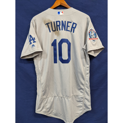 Photo of Justin Turner Game Used 2018 Road Jersey