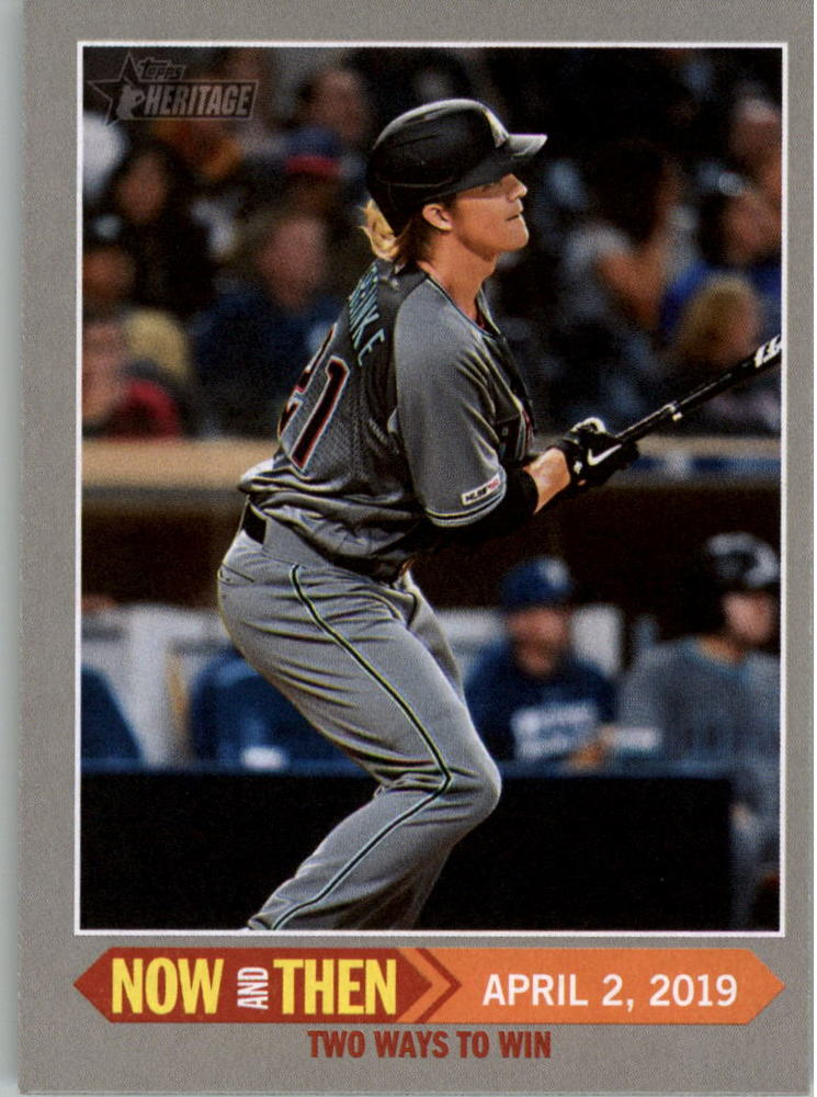 2019 Topps Heritage Now and Then #NT4 Zack Greinke