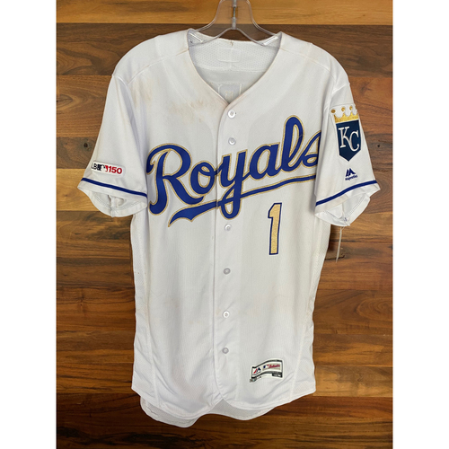 Photo of Game-Used Jersey: Nicky Lopez 22nd Career Double (Size 40 - MIN @ KC - 9/27/19)