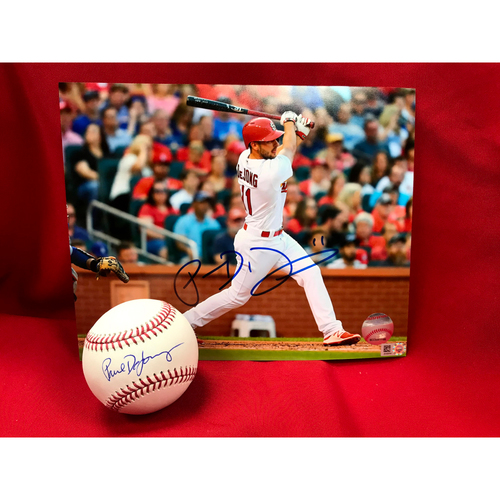 Paul DeJong Autographed Baseball and Photo