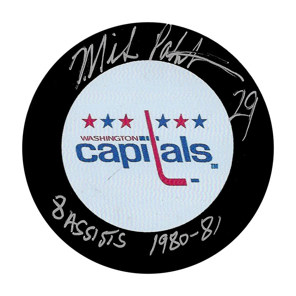 Mike Palmateer Autographed Washington Capitals Puck w/8 ASSISTS Inscription