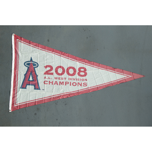 Photo of Los Angeles Angels 2008 American League West Division Champions Team-Issued Pennant