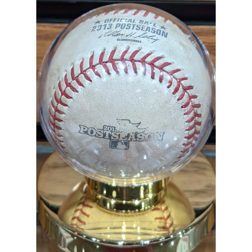 2013 ALCS Game 1 Red Sox vs. Tigers Game Used Baseball - Anibal Sanchez to Mike Napoli