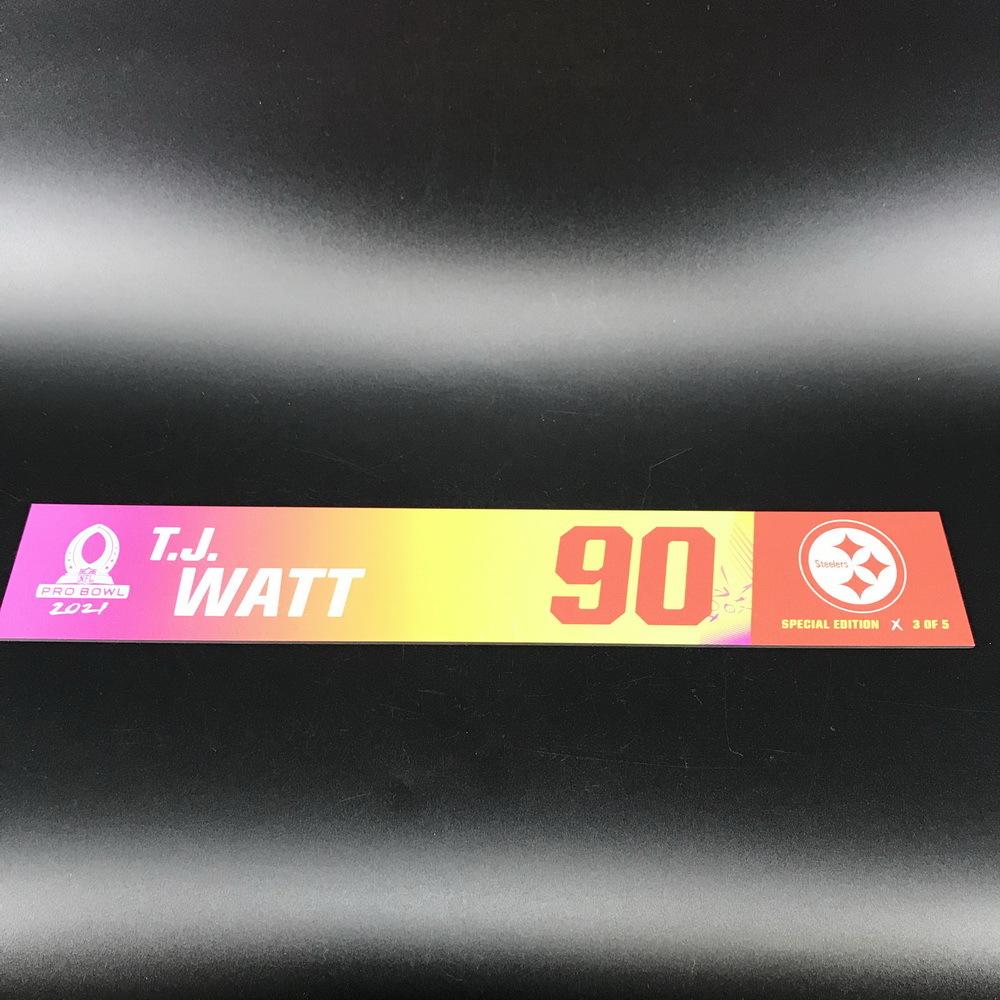 NFL - Steelers T.J. Watt 2021 Pro Bowl Locker Nameplate Special Edition #3 of 5