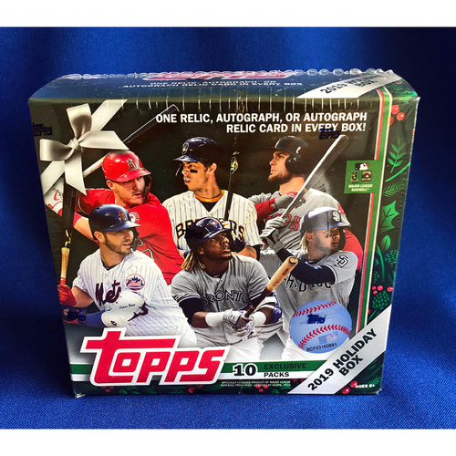 UMPS CARE AUCTION: 2019 Topps Baseball Cards Holiday Box