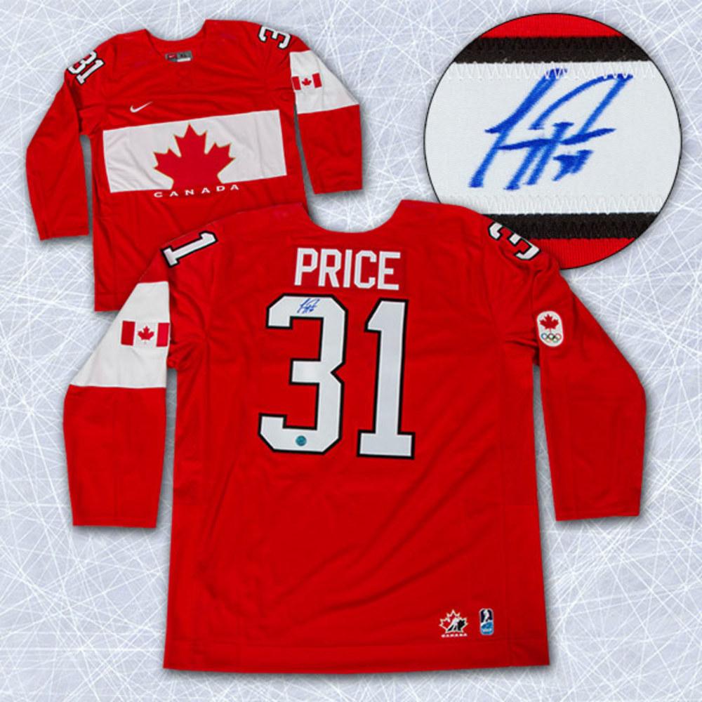 CAREY PRICE Team Canada SIGNED 2014 Olympic Hockey Jersey