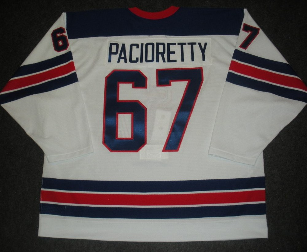 Max Pacioretty - Sochi 2014 - Winter Olympic Games - Team USA Throwback Game-Issued Jersey - 2nd and 3rd Periods vs. Slovenia, 2/16/14