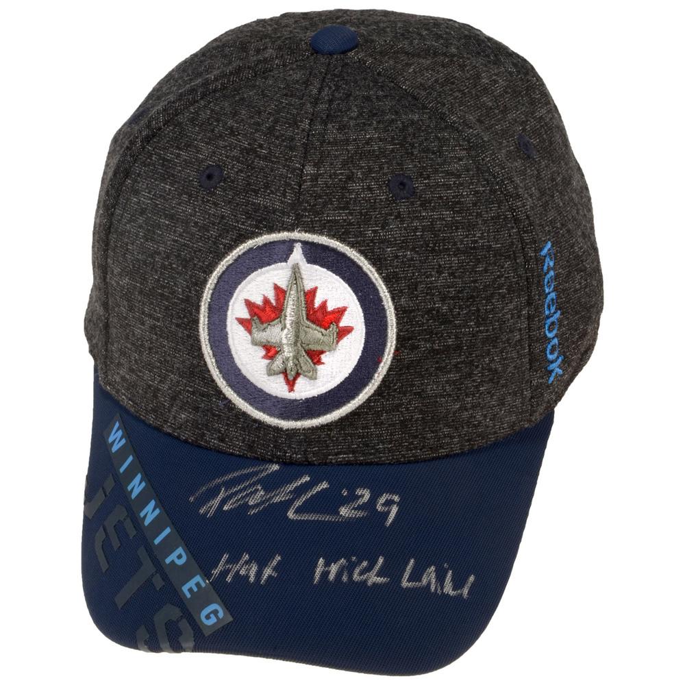 Patrik Laine Winnipeg Jets Autographed Cap with Hat Trick Laine Inscription -  #29 in a Limited Edition of 29