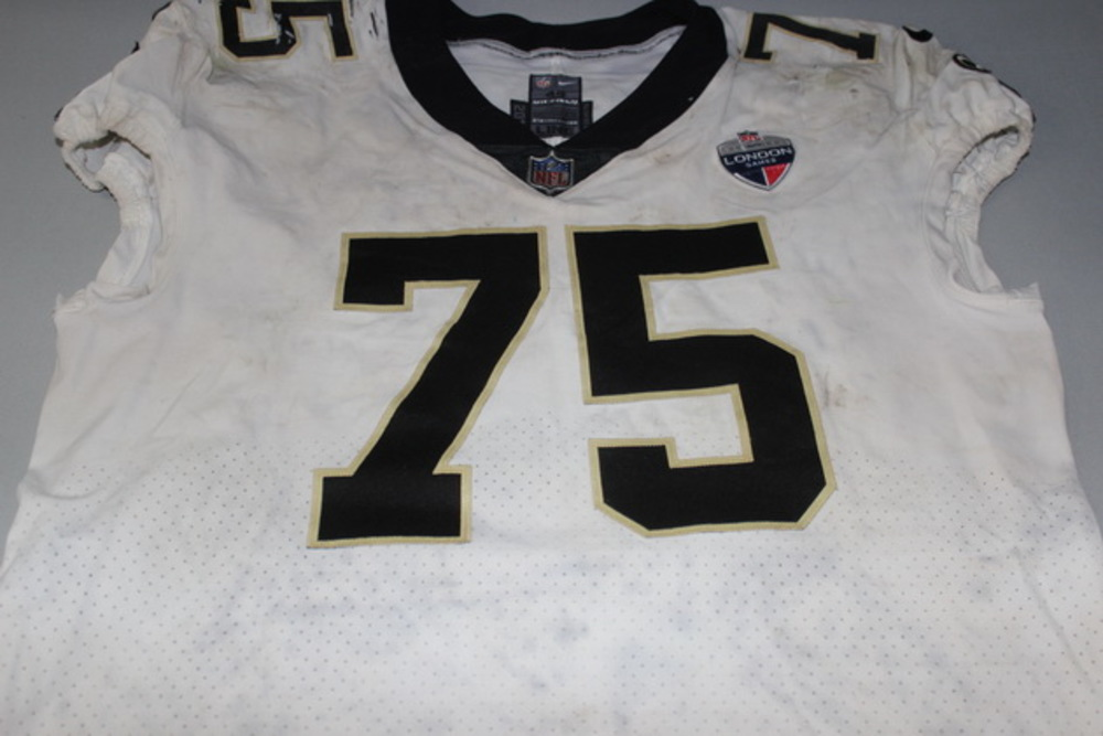 NFL London Games - SAINTS ANDRUS PEAT GAME WORN SAINTS JERSEY (OCTOBER 1, 2017)
