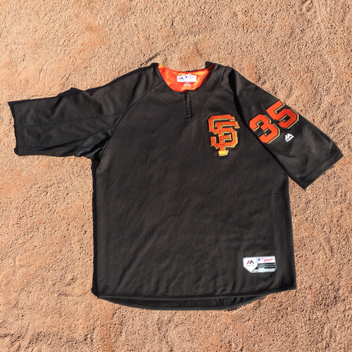 San Francisco Giants - 2017 Game-Used Batting Practice Jersey Worn by #35 Brandon Crawford (Size: XL)