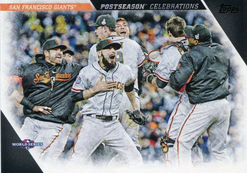 Photo of 2017 Topps Update Postseason Celebration #PC2 San Francisco Giants