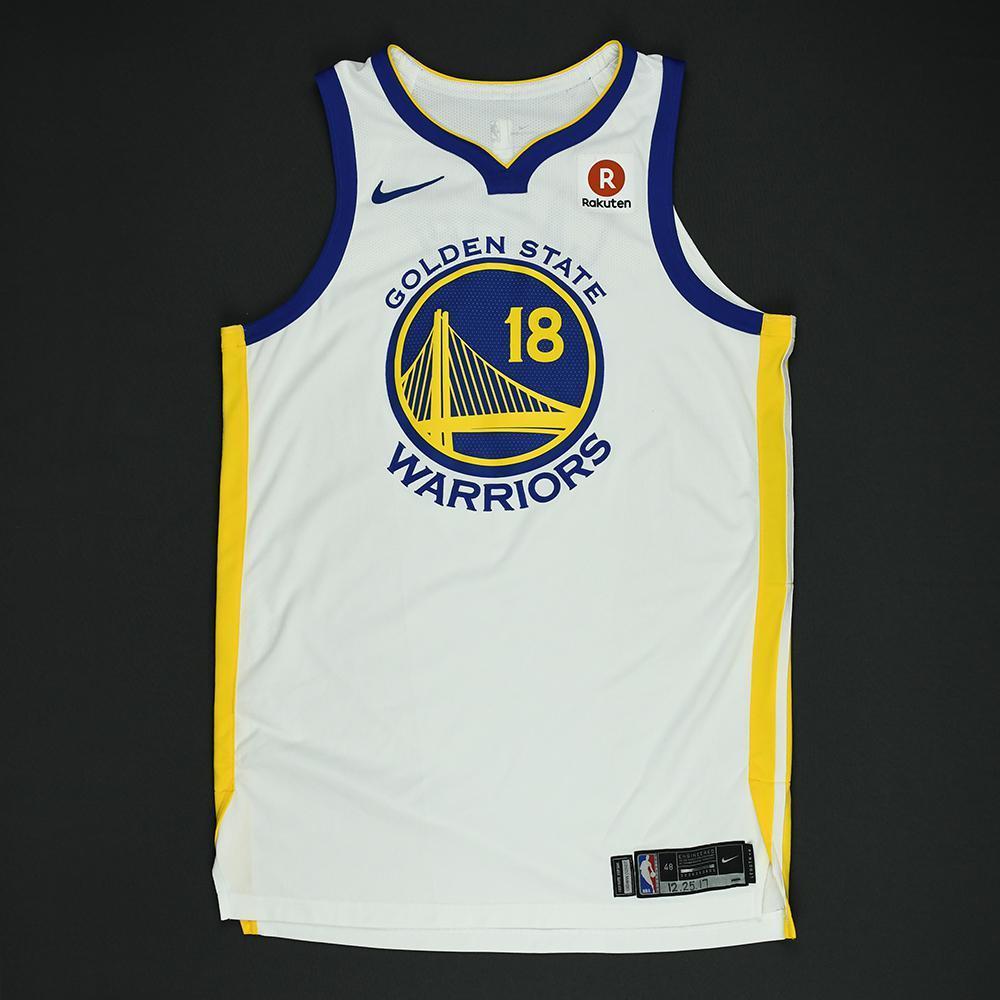 Omri Casspi - Golden State Warriors - NBA Christmas Day '17 Game-Worn Jersey