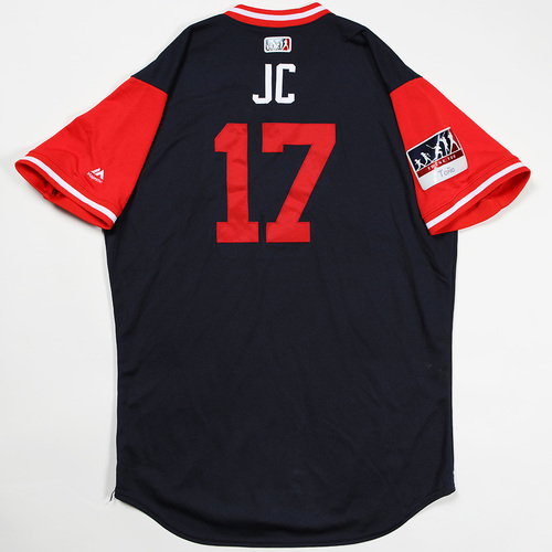 "Photo of Johan ""JC"" Camargo Atlanta Braves Game-Used Jersey 2018 Players' Weekend Jersey"