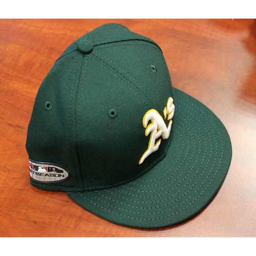 Photo of Game-Used Cap: Chad Pinder AL Wild Card Game 10/3/18