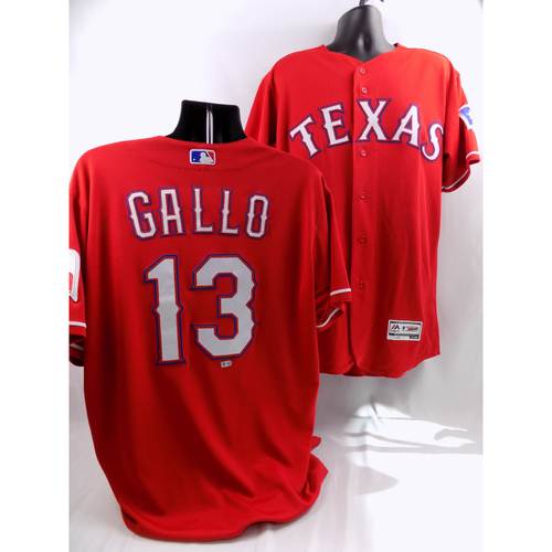 Photo of 9/19/18 - Game-Used Red Jersey - Joey Gallo